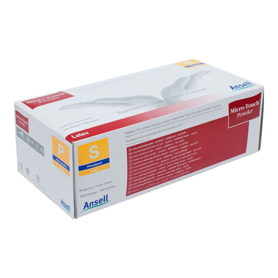 Ansell Micro-Touch Powdered Exam Gloves